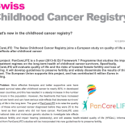 Swiss Childhood Cancer Registry